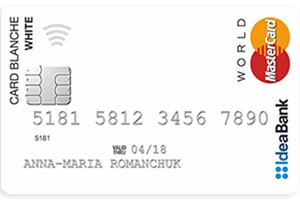 IdeaBank — кредитная карта Card Blanche White